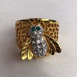 Bee Ring 18k Gold Plated Fashion Ring Size 8